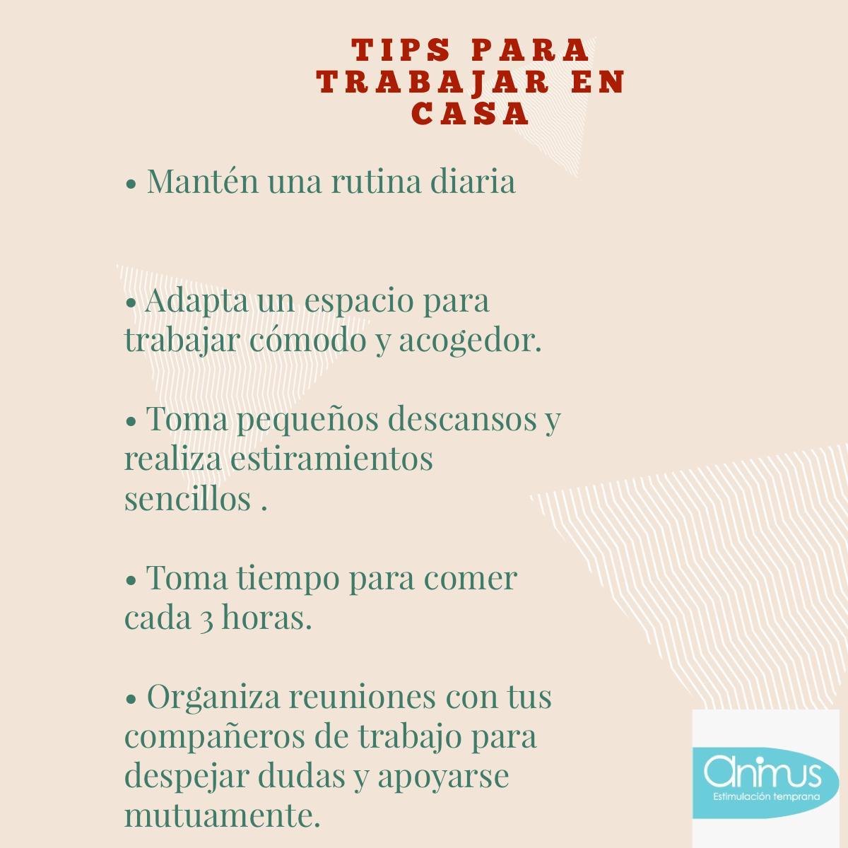 Tips para trabajar en casa